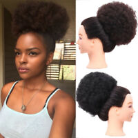 "6"" 8"" Afro Ponytails Puff Drawstring Bun Updo Wrap Curly Hair Chignons Synthetic"