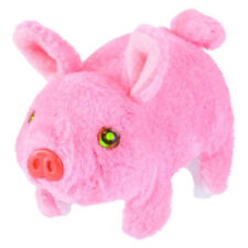 TOY WALKING SNORTING PLUSH PIG!!! nose & tail wiggles eyes light up pink hog