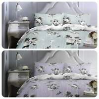 Dreams & Drapes CHARLOTTE Pastel Floral Easy Care Duvet Cover Set Quilt King