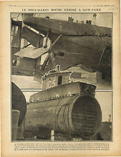 Submarine UC-5 Sous-Marins U-Boat Kaiserliche Marine Port New-York USA 1917 WWI