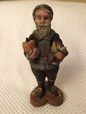"1988 Sarah'S Attic Resin Figurine Harvest Santa #548 Very Nice 7 1/2"" Tall"