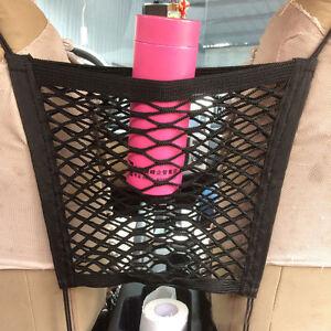 Car Seat Gap Cargo Organizer Storage Net Elastic Nylon Hammock Holder Mesh