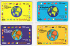 4 TELECARTE / PHONE CARD .. FRANCE PREPAYEE ECONOTEL MIX MODELES DIFFERENTS A1