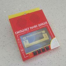Diseño Retro Móvil Banco de alimentación Cargador portátil de emergencia cinta de casete