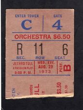 1973 Jethro Tull concert ticket stub Madison Square Garden A Passion Play 8/29