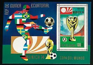 Equatorial Guinea #MiBl76 MNH S/S CV€7.50 FIFA World Cup