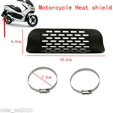 Motorcycle Cruiser Exhaust Muffler Pipe Heat Shield Cover Heel Guard Oval New
