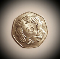 RARE 50p Coin 1973 EEC Ring of Hands Higher Quality BUY it for BREXIT reason