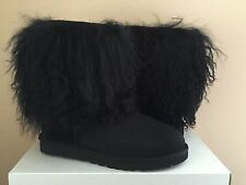UGG CLASSIC SHORT SHEEPSKIN CUFF BLACK BOOT US 6 / EU 37 / UK 4.5 LIMITED RARE