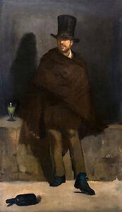 Edouard Manet, The Absinthe Drinker, Alcohol Art, Museum Poster / Canvas Print