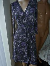 Jersey Midi Floral Wrap Dresses