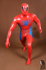 latex Rubber Catsuit Red Spider-man Tights Handsome Bodysuit Suit Size XXS-XXL