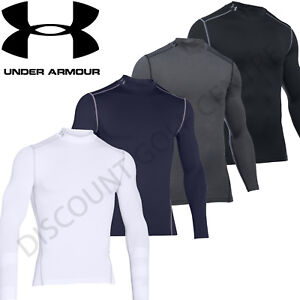 Under Armour Mens UA Golf ColdGear Compression Mock Base Layer