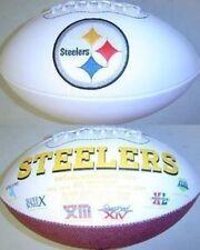 Pittsburgh Steelers Rawlings NFL White Panel Team Full Size Fotoball Football