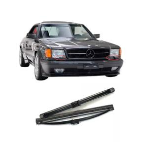 W126 Coupé Sec Headlight Wiper Blades Set New