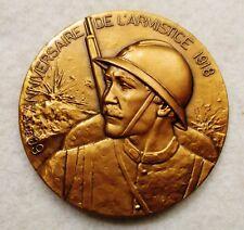 MEDAILLE 60ème NNIVERSAIRE DE L'ARMISTICE 1918/ CONSEIL GENERAL DE L'ESSONNE
