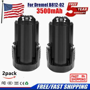 2× 12 Volt 3500mAh Battery for Dremel B812-01,B812-02 8200 8220 8300 Rotary Tool