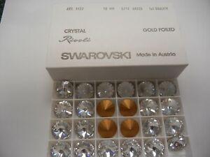 8 swarovski rivoli stones,18mm crystal #1122