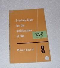 STANDARD 8 MAINTENANCE HANDBOOK.