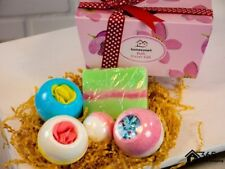 5pc Bath Bomb & Soap Gift Set Fruity Scents Luxury Pamper Hamper Christmas Gift