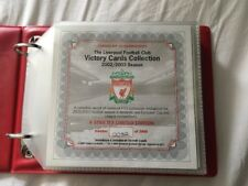 LIVERPOOL FC VICTORY CARDS - Official LFC Victory Card Collection 2002/3 Season