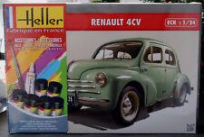 1955 Renault 4 CV Pie Komplettset mit Farbe 1:24 Heller 80762