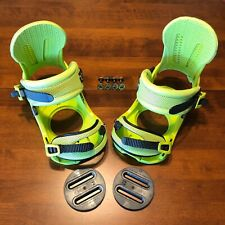 Union Force Snowboard Bindings USED - Bright Yellow/Green - Large - Magnesium
