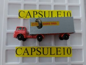 Camion 1/43 matchbox Bedford truck orange et sa remorque rare