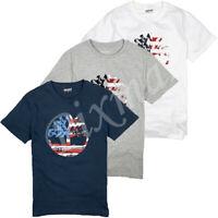 Timberland Men's Short Sleeve US American Flag Tree Logo T-Shirt A1Z75