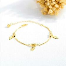 Leaf Shaped Anklet Copper Plated Ladies Anklet Fashion Simple Trend Gift