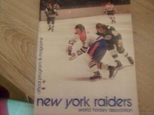 1972-73 NEW YORK RAIDERS WHA PROGRAM SCORED