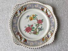 "Johnson Bros Old English VIGO Salad Dessert Plate Florals ~ Gold Trim ~ 8"""