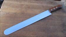 WIDE Vintage PINO Italian Chef's Carbon Steel Ham Slicing Knife RAZOR SHARP