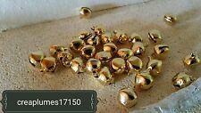 lot de 20 grelots clochettes Or doré breloques scrapbooking 14mm/12mm