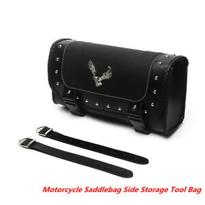 PU Saddle Bags Motorcycle Saddlebag Side Storage Tool Bag
