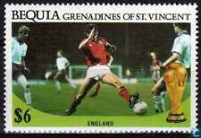 1986 FIFA World Cup Football MEXICO Bequia St. Vincent Grenadines Stamp ENGLAND