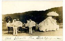 Ellenville NY -FIRST PRIZE WAGON FLOAT AT 1906 FAIR- RPPC Postcard
