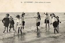 LE TREPORT (76) peche à pied enfants pecheurs de crevettes animation