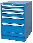 LISTA XSMP0600-0501 - MP600 5-Drawer Bench Height Storage Cabinet