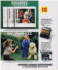 PUBLICITE ADVERTISING 054 1978 KODAK instantanés EK100 EK2
