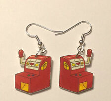 Slot Machine Earrings Gambling Games Casino Charms
