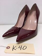 K40 Kate Spade Licorice Red Patent Leather Pointy Toe Pumps Women's Size 10 M