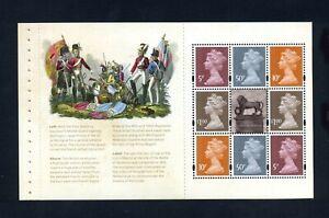 GB 2015 Booklet pane BATTLE OF WATERLOO SG U3072b MNH / UMM FV£3.30