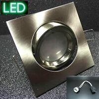 LED Eisen Einbau-Strahler KW50 6W GU10 230V Spots