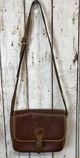 Vintage 1980s Oggi Domani Brown Leather Purse Crossbody Bag Adjustable Strap