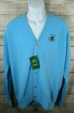 Vintage Vince Lombardi Golf Classic Mens Large Cardigan Sweater Blue New Buttons