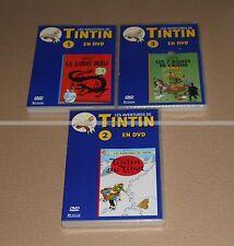 3 DVDs des Aventures de TINTIN COLLECTOR NEUF