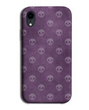 Skull Symbols Phone Case Cover Purple Lilac Violet Coloured Shades Print G067