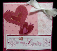 Fancy script TO MY LOVE w ORNATE BORDER embossing folder + Stampin Up bonus
