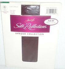 HANES vintage Silk Reflections cabernet burgundy red opaque tights size S 8/10